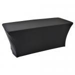 Zwarte stretch tafelrok