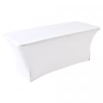 Witte stretch tafelrok