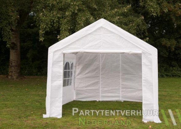 Partytent 3x3 meter voorkant huren - Partytentverhuur Eindhoven