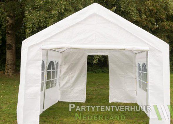 Partytent 3x3 meter voorkant met deur huren - Partytentverhuur Eindhoven