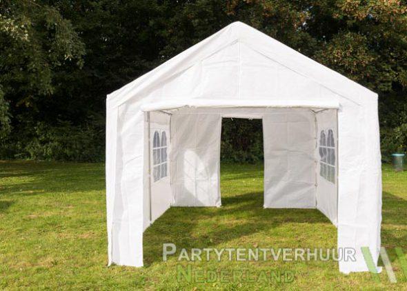 Partytent 3x4 meter voorkant met deur huren - Partytentverhuur Eindhoven