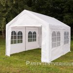 Partytent 3x4 meter zijkant huren - Partytentverhuur Eindhoven