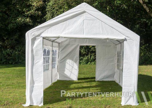 Partytent 3x6 meter voorkant met deur huren - Partytentverhuur Eindhoven