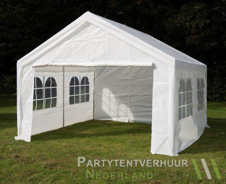 Partytent 4x4 meter voorkant schuin huren - Partytentverhuur Eindhoven