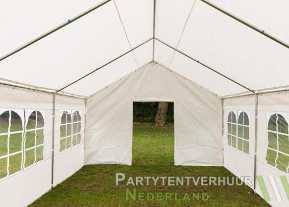 Partytent 4x6 meter voorkant met deur huren - Partytentverhuur Eindhoven