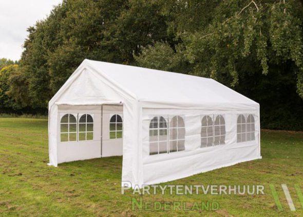 Partytent 4x6 meter zijkant huren - Partytentverhuur Eindhoven