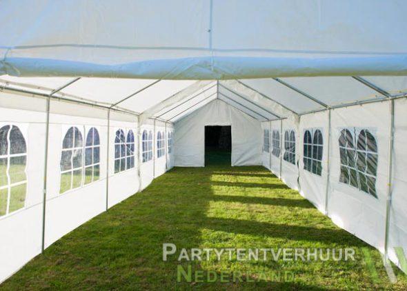 Partytent 6x12 meter binnenkant met deur huren - Partytentverhuur Eindhoven