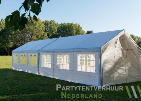 Partytent 6x12 meter zijkant links huren - Partytentverhuur Eindhoven