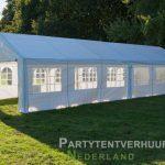 Partytent 6x12 meter zijkant rechts huren - Partytentverhuur Eindhoven