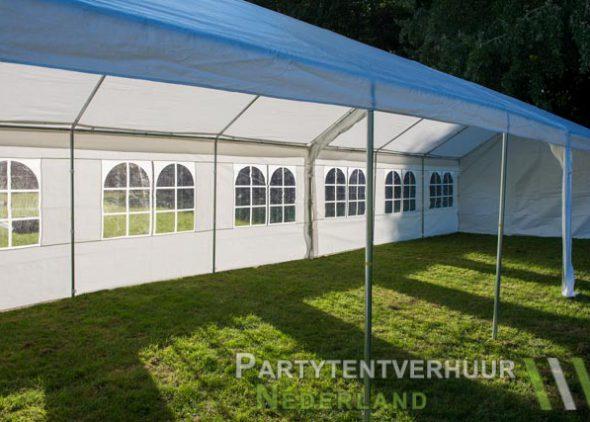 Partytent 6x12 meter zijkant rechts open huren - Partytentverhuur Eindhoven