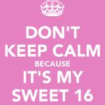 Sweet 16 uitnodiging