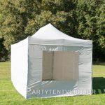 Easy up tent 3x4,5 meter voorkant schuin huren - Partytentverhuur Eindhoven