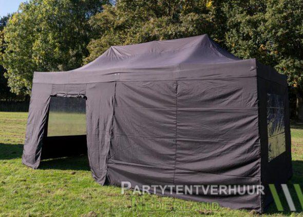 Easy up tent 3x6 meter zijkant met deur huren - Partytentverhuur Eindhoven