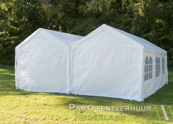 Partytent 6x6 meter achterkant huren - Partytentverhuur Eindhoven