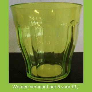 Groene plastic beker huren - Partytentverhuur Eindhoven