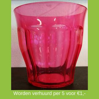 Roze plastic bekers huren - Partytentverhuur Eindhoven
