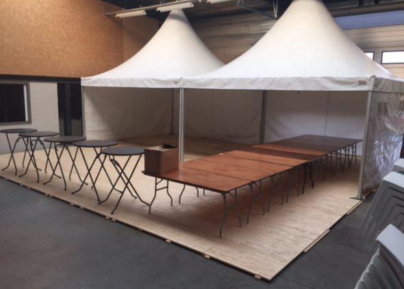Houten tentvloer-in-tent-Partytentverhuur-Eindhoven